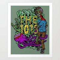 The 101's Zombie Art Print