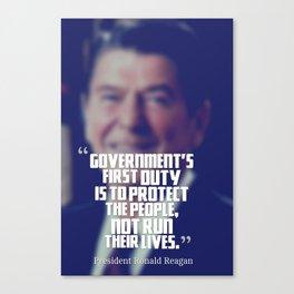 Inspirational Quotes - Motivational - 81 President Ronald Reagan Canvas Print