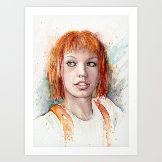 Leeloo Portrait Fifth Element Art Art Print