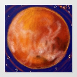 Mars and Stars Canvas Print