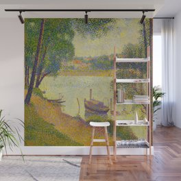 Gray weather Grande Jatte 1888 Oil Painting Pointillism Post-Impressionism Impressionism Modern art Wall Mural
