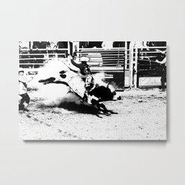 Bull Riding Champ Metal Print