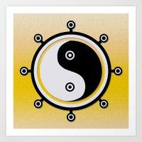 yin yang Art Prints featuring Yin yang by Nir P