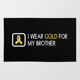Childhood Cancer: Gold For My Brother Rug