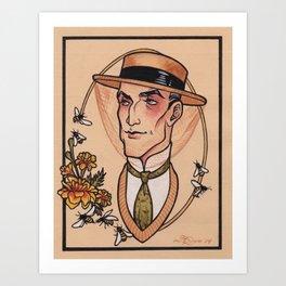 Sherlock Holmes in Retirement Art Print