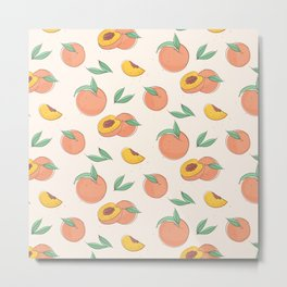 Peach with leaves Metal Print
