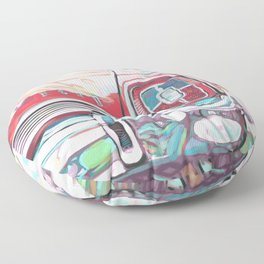 Red 67 Galaxie Floor Pillow