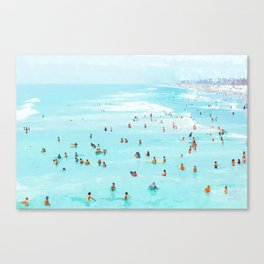 Hot Summer Day #painting #illustration Canvas Print
