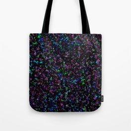 Black Light Color Spray Tote Bag