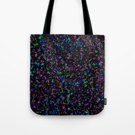 Black Light Color Spray Tote Bag