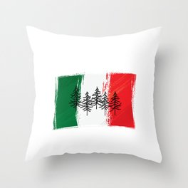 Italy | Mountain sports | Sports | Snowboarding | Powder Rider | Snowboard Lover | Flag | National Throw Pillow