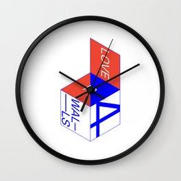 f(x) — 4 Walls Box (white) Wall Clock