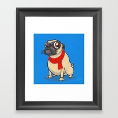 Pug with a scarf Framed Art Print