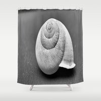 shell Shower Curtains featuring Shell by Abigail Burgett