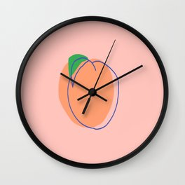 PEACH ULTRAMARINE Wall Clock
