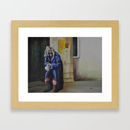 """Spitting Out Pieces of His Broken Luck"" Framed Art Print"