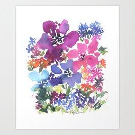 Pretty Poppy Patch Art Print