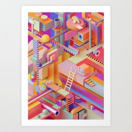 dreaming in technicolor Art Print