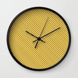 Primrose Yellow and Black Stripe Wall Clock