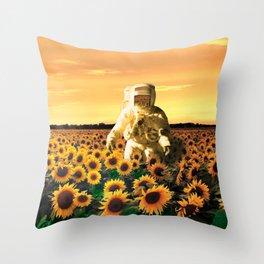 Space Gardener Throw Pillow