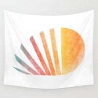 ed sheeran Wall Tapestries featuring Raising sun (rainbow-ed) by Picomodi