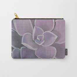 Lavender Succulent Carry-All Pouch