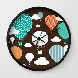Hot air balloon chocolate Wall Clock