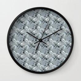 Romantic roses - Grey Wall Clock