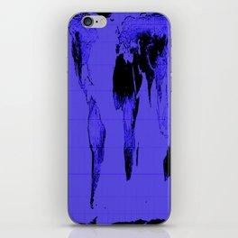 World Map: Gall Peters Indigo Purple iPhone Skin