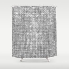 Enjoy The Flow - Minimal Lines Geometric Ocean Shower Curtain