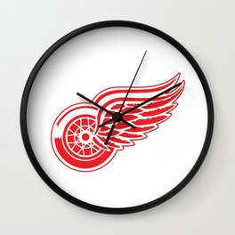 Detroid Red Wings Logo Wall Clock