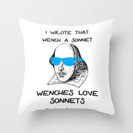 Shakespeare Sonnet Meme Throw Pillow
