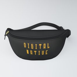 Digital Native Heart for Nerds or Pixel mothers Fanny Pack