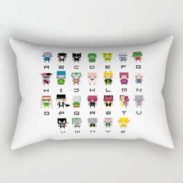 Pixel Supervillain Alphabet 2 Rectangular Pillow