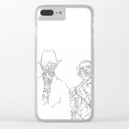 Couple of Criminals Clear iPhone Case