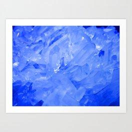 Blue Crystal City - Quartz Photography Art Print