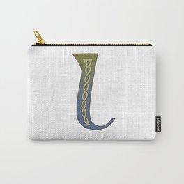 Celtic Knotwork Alphabet - Letter L Carry-All Pouch