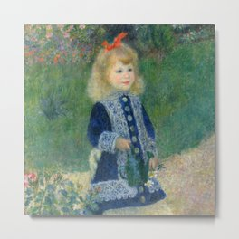 Renoir - A Girl with a Watering Can Metal Print