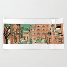 Hitchcock's Rear Window Beach Towel