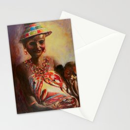 African Mother and Child Stationery Cards
