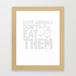 Vegetarier Veganer Geschenk Framed Art Print