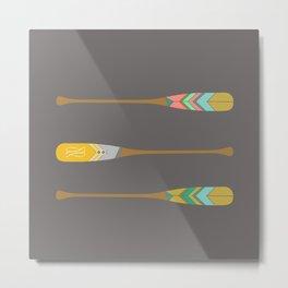 Oars Metal Print