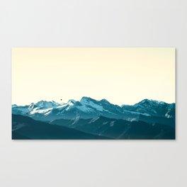 turquoise mountainscape Canvas Print