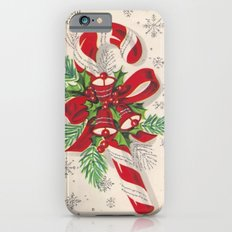 A Vintage Merry Christmas Candy Cane Slim Case iPhone 6s