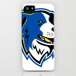 Border Collie Dog Mascot iPhone Case