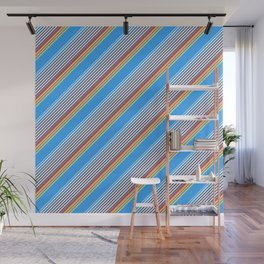 Summer Inclined Stripes Wall Mural