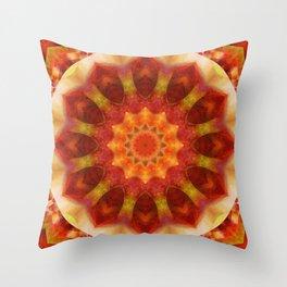 Mandala orangered Throw Pillow