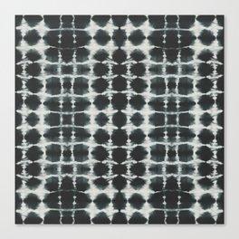 Black Shibori Canvas Print