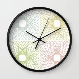 Spirographs Wall Clock