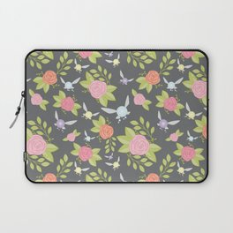 Garden of Fairies Pattern in Grey Laptop Sleeve